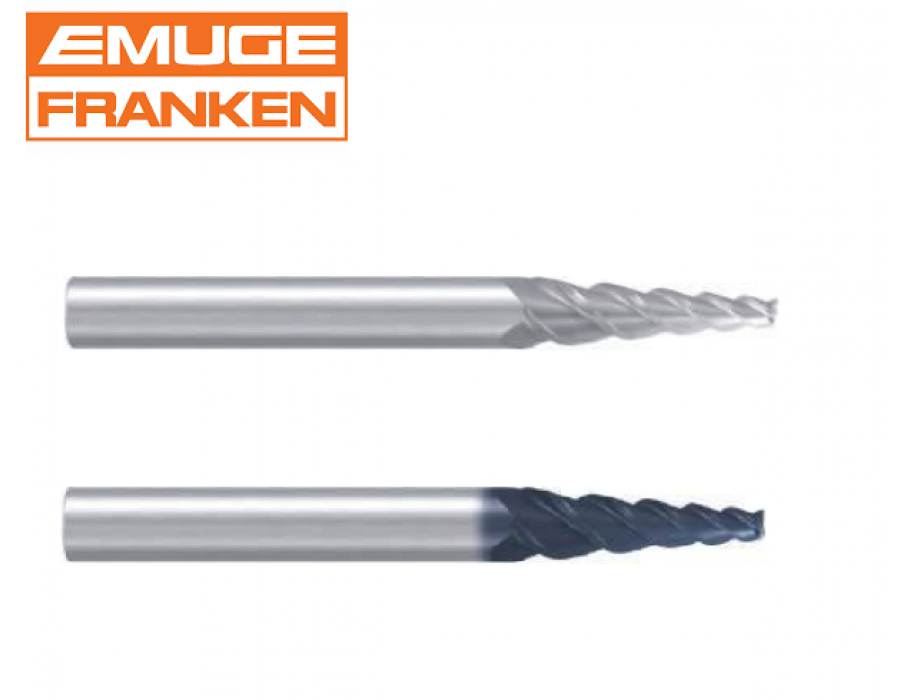 Franken Tapered Solid Carbide End Mills 1902/1902A