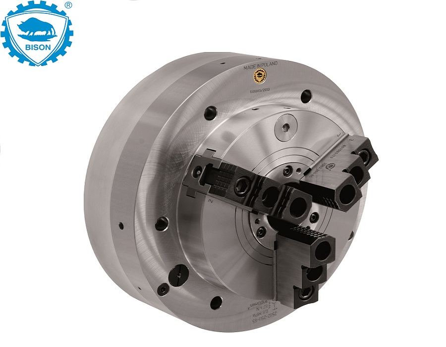 Bison Power Chucks with Integrated Pneumatic Cylinder 2502