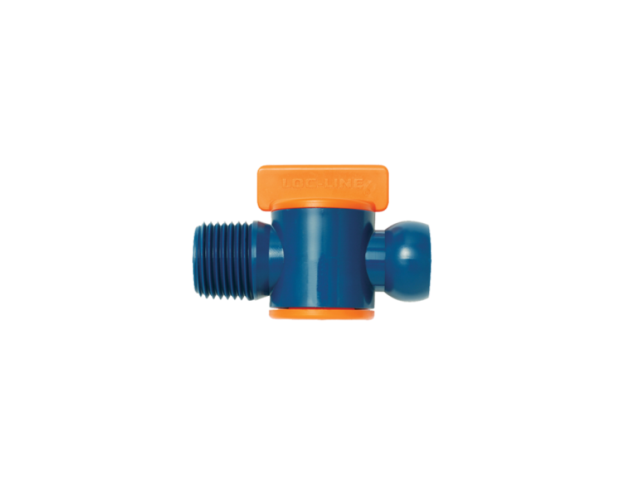 Loc-Line Male NPT Valve for 1/2