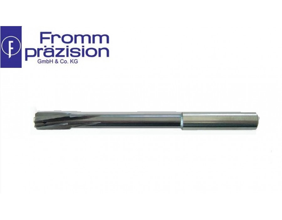 Fromm Solid Carbide Top-Speed Reamer TS4025 BS (Righthand cutting, lefthand spiral, non-uniform pitch, NC-shank)
