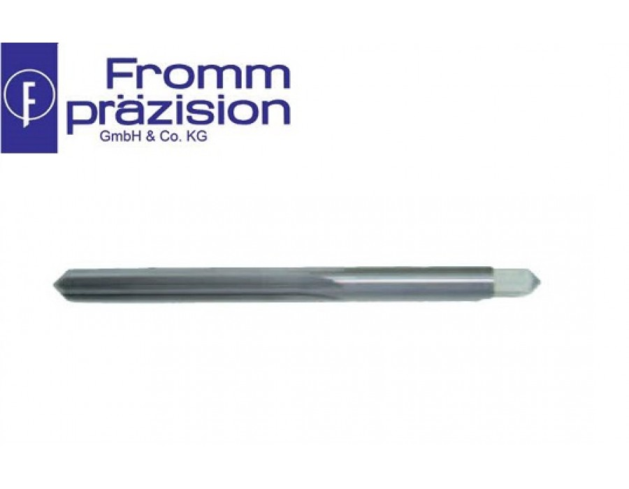 Fromm Solid Carbide Hand Reamer Sim. DIN 206A (Righthand cutting, cylinder shank with square)