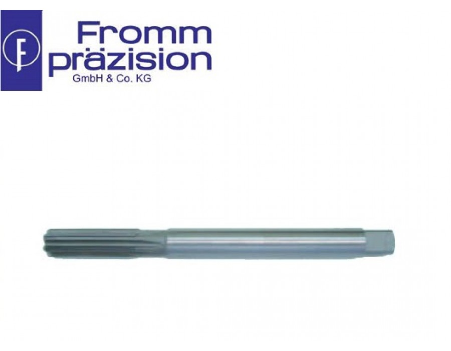 Fromm Carbide-Tipped Hand Reamer Sim. DIN 206A (Righthand cutting, cylinder shank with square)