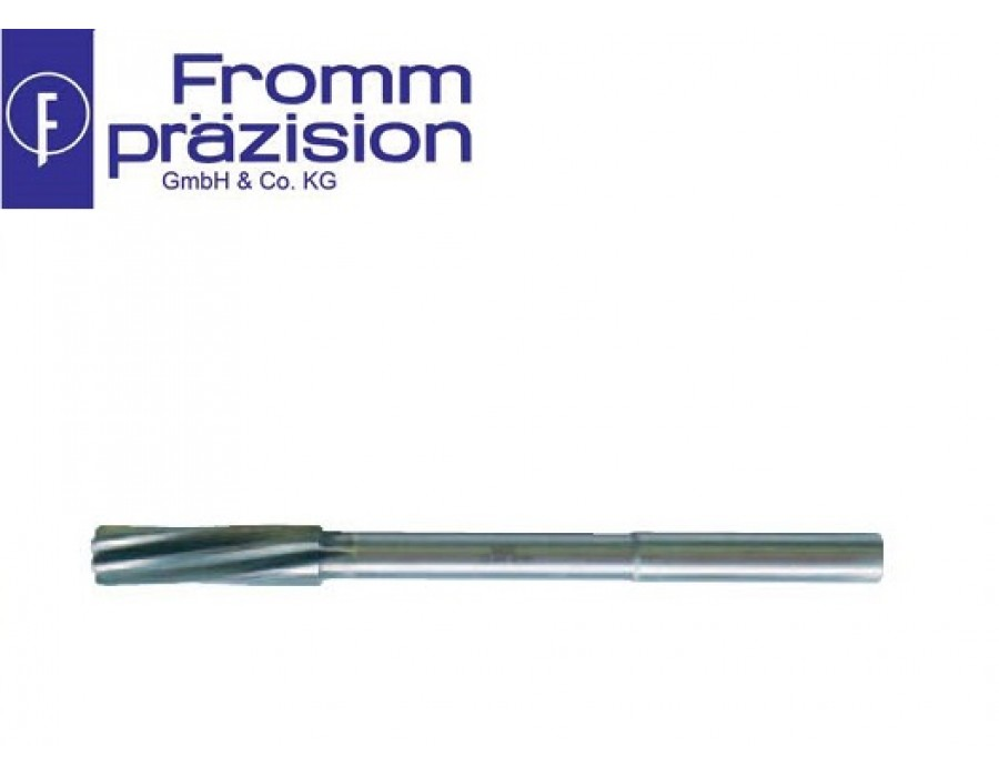 Fromm Solid Carbide NC Machine Reamer Sim. DIN 8093 1/100 (Right hand cutting, left hand spiral, NC-shank)